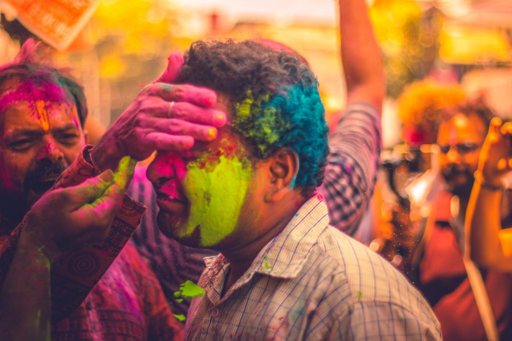 Holi festival des couleurs en Inde
